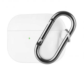 Goospery Airpods PRO Protective Silicone Case with Carabiner (White)