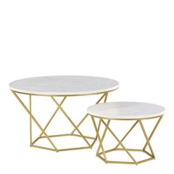 Marble top Hex_Nesting table