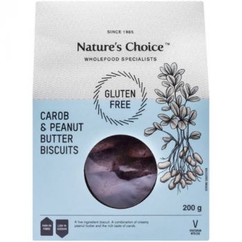 Nature's Choice Gluten Free Carob & Peanut Butter Biscuits 200g